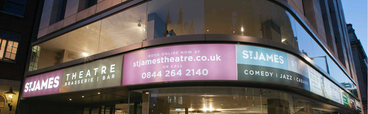 St. James Theatre banner